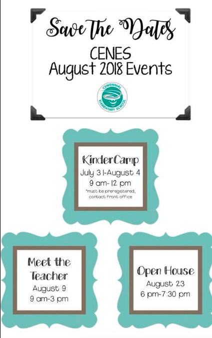 August Save the Dates