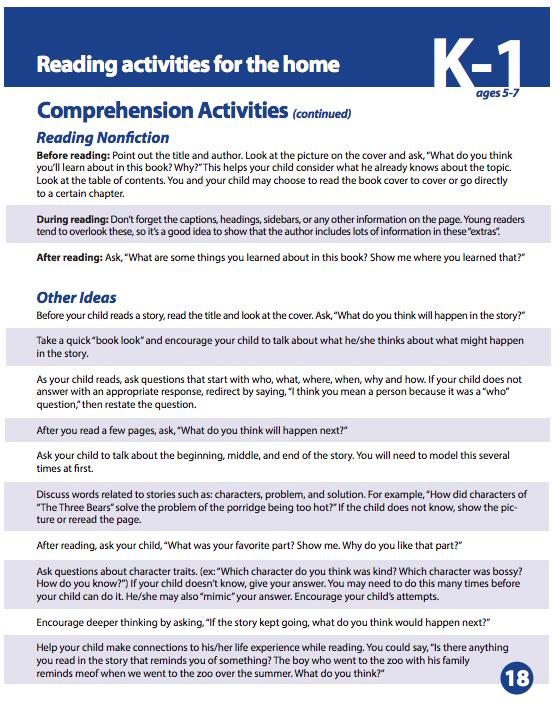 Read-At-Home Plan | Centennial Elementary School