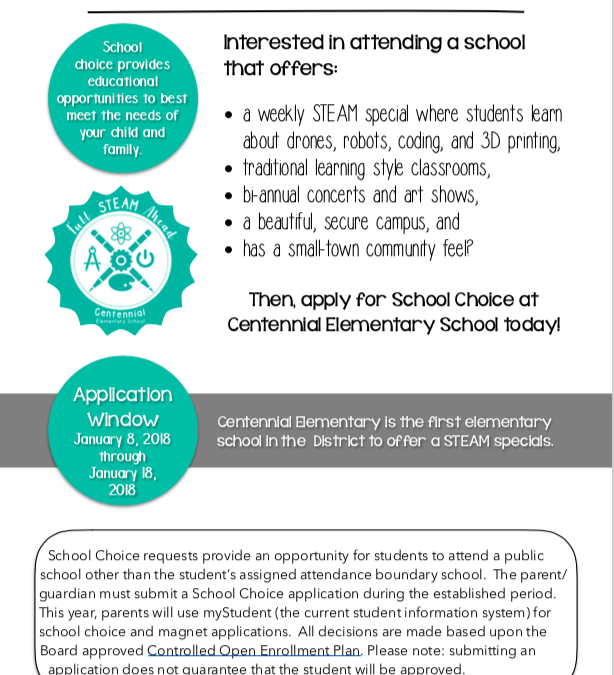 Why Centennial Elementary for School Choice?