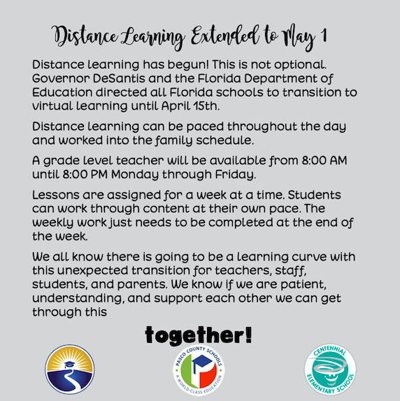 Distance Learning Updates/Resources
