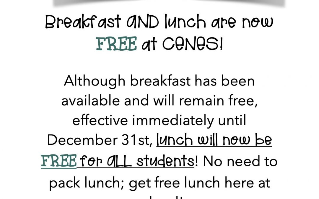 Free School Lunch until December 31st