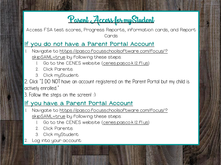 Parent Portal Directions